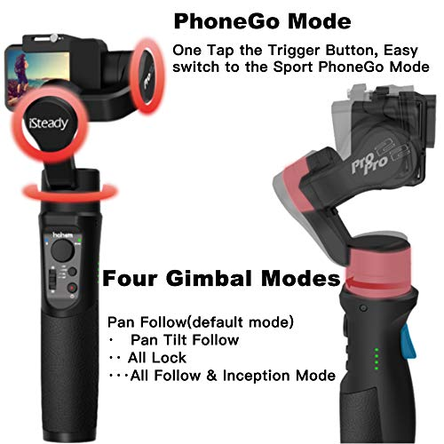 Hohem GoPro Gimbal Stabilizer iSteady Pro 2 Handheld Stabiliser for DJI Osmo Action,GoPro Hero 7//6//5//4//3,SJCam,YI 4K Action Camera 3 Axis Splash-Proof Gimble IP64 2019 New Model