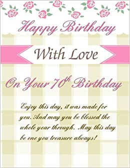 On Your 70th Birthday Greetings Weeklly Planner Gifts For Women In Al70th Her