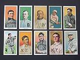 1909 T-206 (10) Card Baseball Reprint Lot including (Tris Speaker,) (Ty Cobb) (Honus Wagner) (Walter Johnson) (Christy Mathewson) (Cy Young) (Rube Waddell) (Napleon Lagoie) (Three Fingers Brown) (Rube