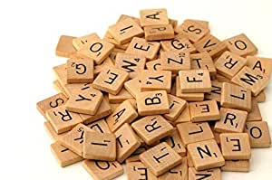 500 Wood Scrabble Tiles - NEW Scrabble Letters - Wood Pieces - 5 Complete Sets - Great for Crafts, Pendants, Spelling by Fuhaieec(TM)