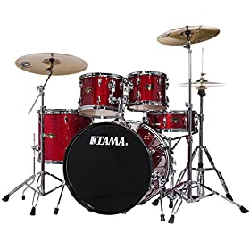 """TAMA IP52NCCPM Imperialstar 5pc Complete Drum Set Kit with 22"""" Bass Drum & Hardware, Cymbals in Candy Apple Mist 2"""