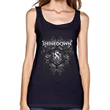 Womens The Popular Rock Band Shinedown Black Graphic Tank Tops