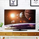 Leighhome Protect Your TV Solar System with Planets Objects Sun Dark Protect Your TV W20 x H40 INCH/TV 40''-43''