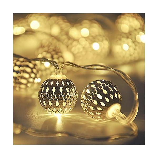 Details about  /Globe String Lights,Cmyk 14.6 Ft 40 Led Led Fairy String Lights Battery Operated