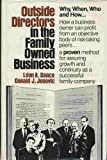 Outside Directors in Family Owned Business