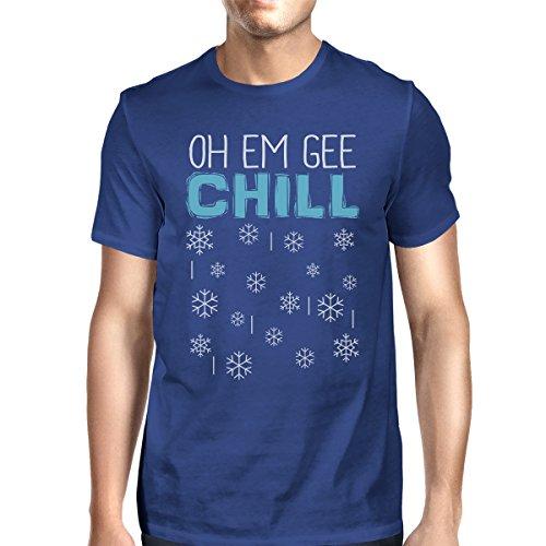 Oh manga Printing para 365 de Em Camiseta con Chill solo Gee un hombro Snowflakes corta hombre dPnqtwg