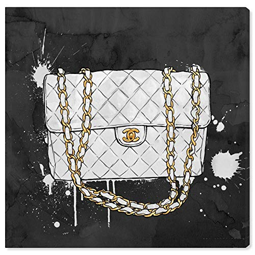 The Oliver Gal Artist Co. Fashion and Glam Wall Art Canvas Prints 'Everything But My White Bag' Home Décor, 12