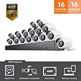 Samsung Wisenet SDH-C85100-16 16 Channel 4MP Super HD DVR Video Security System with 2TB Hard Drive and 16 4MP Weather Resistant Bullet Cameras (SDC-89440BF)