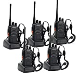 5 Pack BAOFENG BF-888S Portable Handheld 2-way Ham Radio with Original Earpieces + Baofeng...