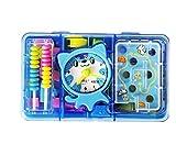 Wanrane Baby Development Toys Labyrinth Tool Box Cat Counter Children's Educational School Supplies(Blue)