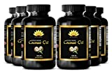 Wellness supplement - EXTRA VIRGIN COCONUT OIL 3000 MG - Increase mood - 6 Bottles 360 Softgels