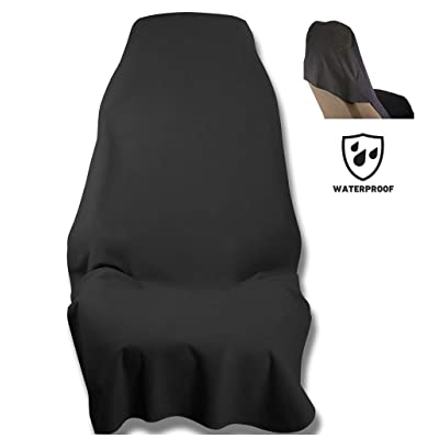 Waterproof SeatShield UltraSport Seat Protector (Black) - The Original Removable Auto Car Seat Cover - Soft Odor-Proof, Guards Leather or Fabric from Sweat, Food, Spills, Sand and mud: Sports & Outdoors
