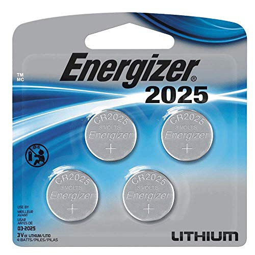 - Energizer 2025 Lithium Coin Cell Battery (4Count)
