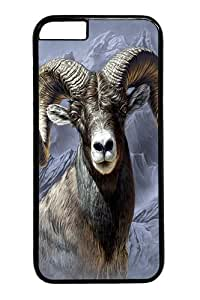Big Horn Sheep Custom iphone 6 plus Case Cover Polycarbonate Black
