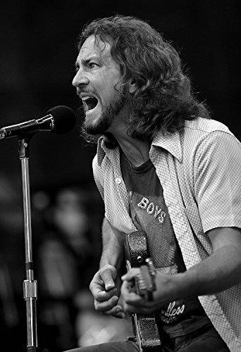 Eddie Vedder Poster Pearl Jam Quality Black And White Print