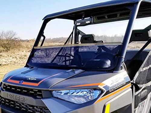 - Polaris Ranger XP 570/900/1000 Short Dark Tint Windshield By Spike