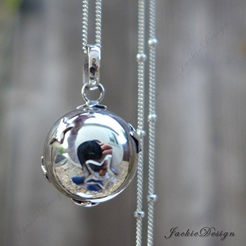 16mm Little Stars Chime Sound Harmony Ball Bali Sterling Silver Pendant Necklace 30