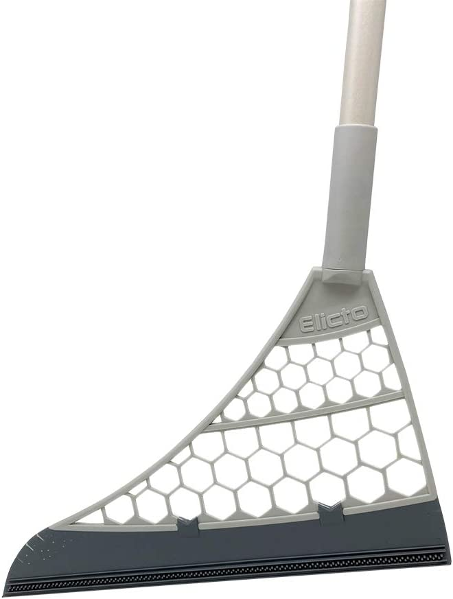 Elicto Multipurpose 5-in-1 Sweeper – Lightweight Carpet Sweeper, Squeegee, Broom, Hair Collector & Floor Cleaner – Manual Silent Non Electric Sweepers for Kitchen, Windows, Hardwood (37 Inches)