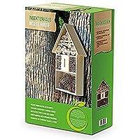 XXL 50cm para insectos Nido Natural/insectos Casa de madera para mariquitas, mariposas, abejas y otros animales
