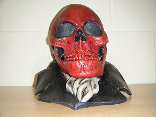 WRESTLING MASKS UK Skull Devil Monster Deluxe Latex Halloween Full Head Fancy Dress Costume Mask]()