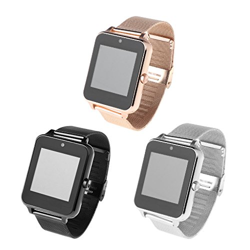 Redriver Multi-Language Bluetooth Smart Watch with Metal Strap for Android iOS (Black) by Redriver (Image #3)