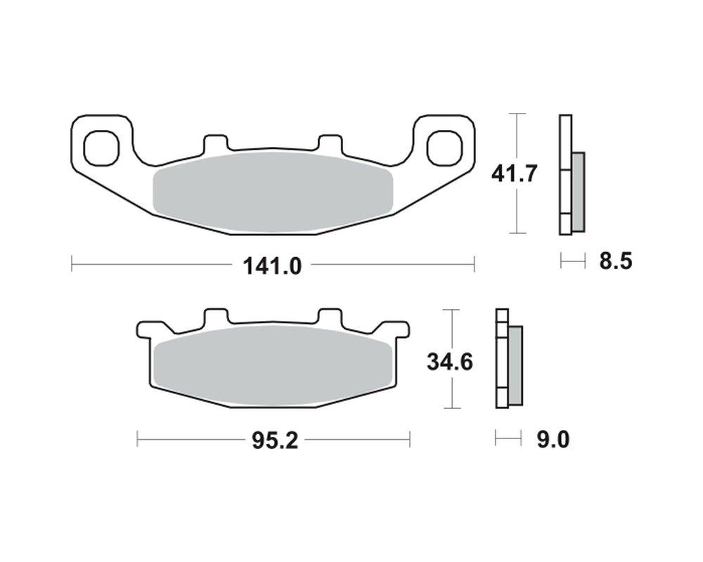 vorne Bremsbel/äge TRW MCB 569 f/ür KAWASAKI ZR 750 Zephyr ZR750C 91-95