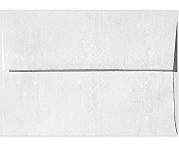 amazon a7 invitation envelopes 5 1 4 x 7 1 4 white linen 1000