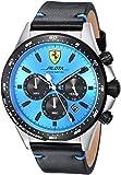 Scuderia Ferrari Men's 'Pilota' Quartz Stainless Steel and Leather...