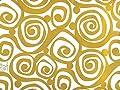 Gold Swirls on White Gift Wrap Paper 15 Feet Roll
