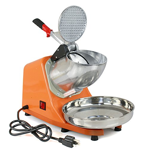 ZENY Ice Shaver Machine Electric Snow Cone Maker Stainless Steel Shaved Ice Machine 145lbs Per Hour (Orange) by ZENY (Image #2)