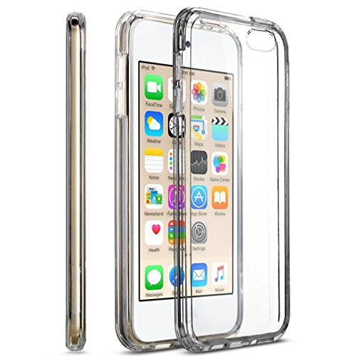 MXx iPod Touch 5th Generation Clear Case With Intergraded Shock Absorbing Soft TPU Bumper.