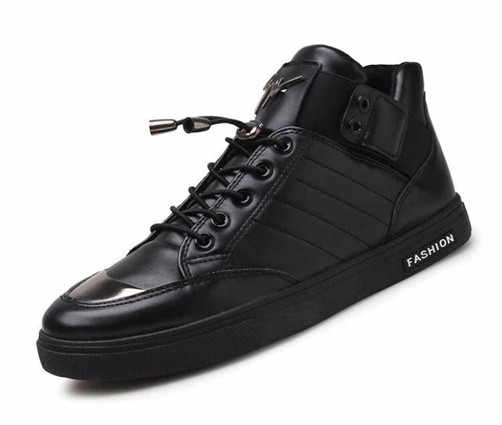Hombres Cima Mas Alta Zapatillas De Deporte Respirables Del Monopatín Zapatillas De Deporte ( Color : Black , Size : 42 ) 42 Black