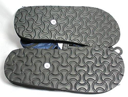 Sandali Per Uomo Cinturino In Velcro (blu Scuro)