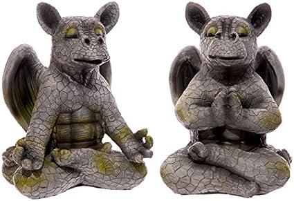Puckator – Figuras decorativas de dragones meditando para jardín, figura decorativa, adorno de jardín: Amazon.es: Jardín