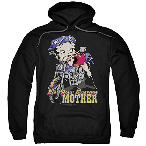 Betty Boop Cartoon Not Your Average Mother Adult Pull-Over Hoodie