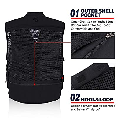 Goture Multifunction Outdoor Fishing Vest Multi Pockets Mesh Breathable Jackets Waistcoat for Fishing Hunting Climbing Shooting Hiking Traveling Photography Journalists with 15 Pockets