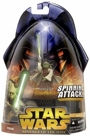 Amazon Com Star Wars Episode Iii 3 Revenge Of The Sith Yoda Spinning Attack Figure 26 Toys Games