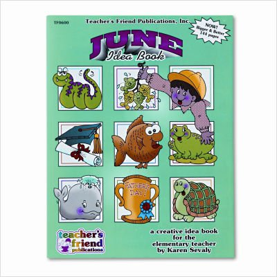Scholastic 0439503752 Monthly idea Book, June, Grade