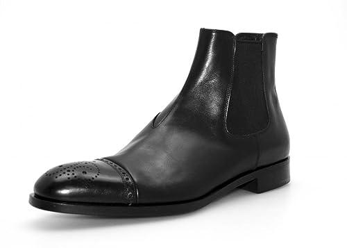7d6b7984ed2c Prada Men s 2TB021 Black Full Brogue Leather Half-Boot EU 8 (42)