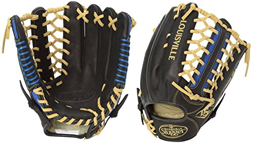 Louisville Slugger Omaha S5 Outfielder's Glove, Right, Black/Royal, ()