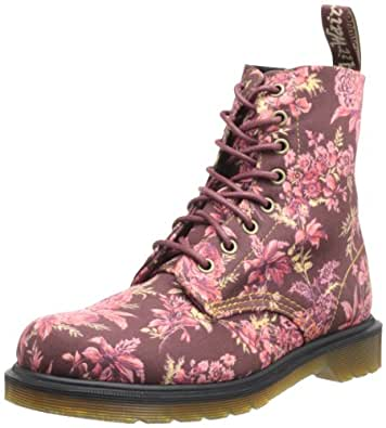 Dr. Martens Airwair Usa Llc -- Women's Beckett Lace-Up Fashion Sneaker,Cherry Red Jouy Floral,9 UK/11 M US