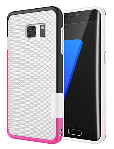 Galaxy S7 Edge Case, Jeylly [3 Color] Slim Hybrid Impact Rugged Soft TPU & Hard PC Bumper Shockproof Protective Anti-slip Case Cover Shell for Samsung Galaxy S7 Edge S VII Edge G935 - White