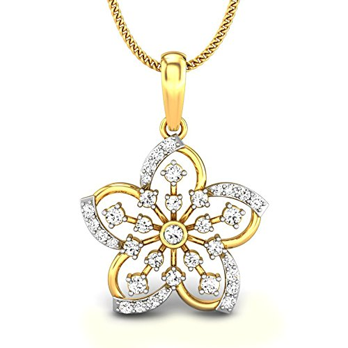 Candere By Kalyan Jewellers 18KT Yellow Gold and Diamond Pendant for Women Pendants