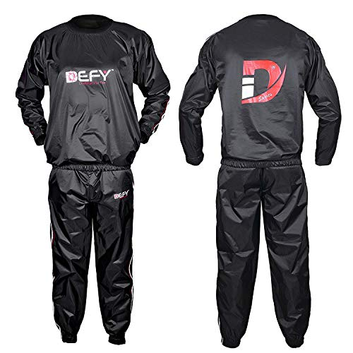 DEFY Heavy Duty Sauna Sweat Suit Exercise Training Gym Suit Fitness, Weight Loss, Anti-Rip New (5XL) (5xl Sauna Suit)