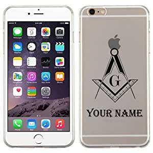 iphone 5C FreeMason Customize NAME Glossy Transparent Clear Candy Skin Cover (Black)