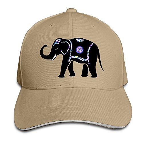 Flex Fit Sandwich Bill Cap (Ioekal Elephant Baseball Caps Unisex Cotton Adjustable For Womens Casual Fitted Sandwich Hat)