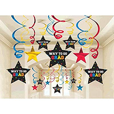 amscan Grad Mega Value Pack Foil Swirl Kit | Party Favor: Toys & Games