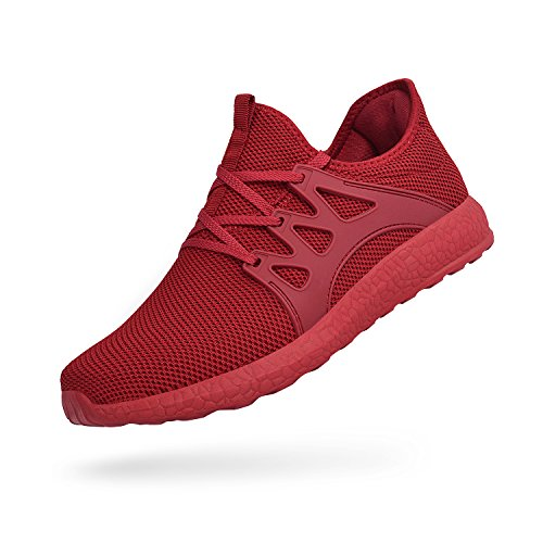 Breathable Mesh Athletic Sneakers Red Lightweight Fashion Ultra Running Feetmat Womens Shoes xFqnBC0X