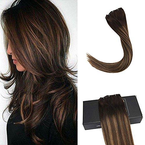サニーヘア パッチンクリップ襟足ウィッグ 40-60cm 7枚セット120g ショートヘアは瞬間ロングヘアに!100%高品質人毛超自然襟足エクステ ワンタッチだけ 簡単ヘアアレンジできます B01I8VCKNC 60cm|2/2/6# ダックブラウン&ミディアムブラウン 2/2/6# ダックブラウン&ミディアムブラウン 60cm