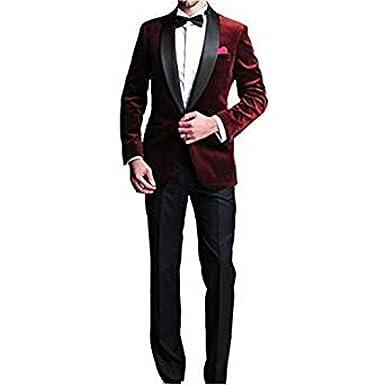 TPSAADE - Costume - Homme Rouge Rouge foncé  Amazon.fr  Vêtements et ... 94de5cb4cc9